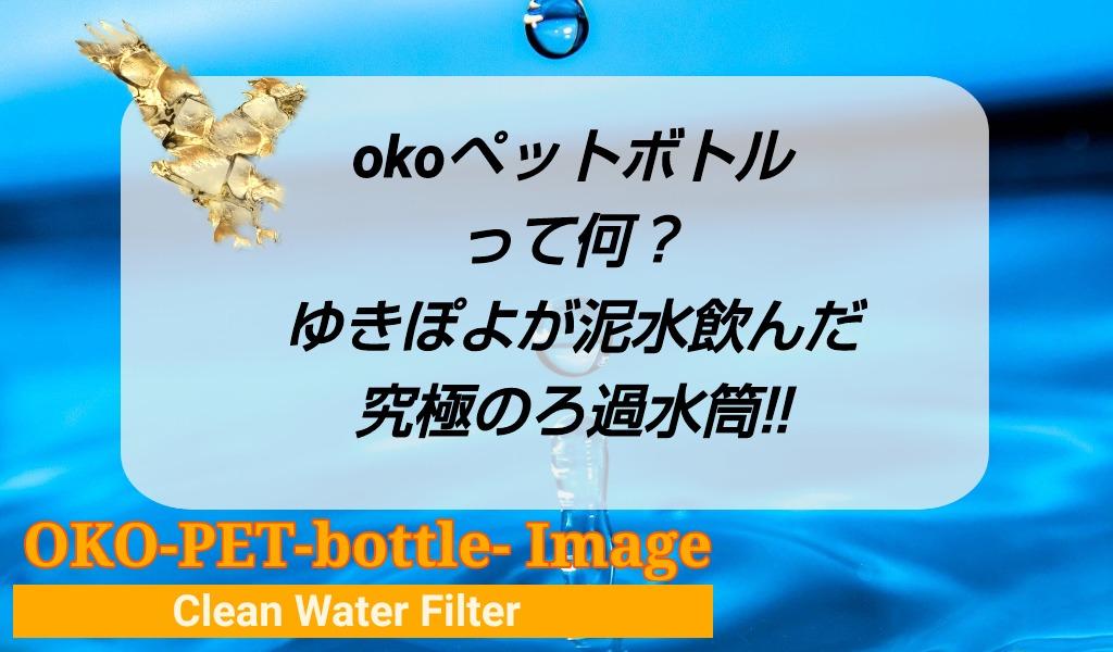 okoペットボトルって何?ゆきぽよが泥水のんだ究極のろ過水筒!!のアイキャッチ画像です。